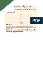 Transformación Digital en Gestión de Recursos Humanos
