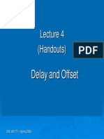 Lecture 4 - Offset and Delay