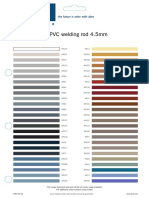 Altro Sample Card Altro PVC Weld Rod
