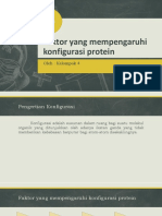Faktor Yang Mempengaruhi Konfigurasi Protein