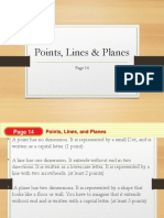 1.3 Points, Lines and Planes