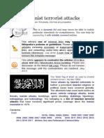 List of Islamist Terrorist Attacks !