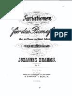 Variazioni su un tema di Schumann - Brahms