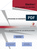 Clasificación de Las Instalaciones