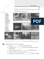 environment natural disasters worksheet