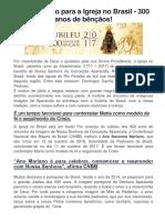 Ano Mariano Para a Igreja No Brasil