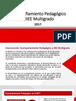 Acompañamiento Multigrado 2017