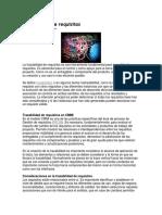 Trazabilidad de Requisitos en  Ingeniería de software
