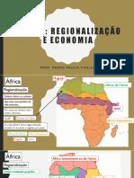 África - Regionalização e economia 2017