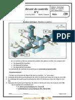 Devoir de Contrôle N°1 - Technologie Machine à cambrer - 2ème Sciences exp (2011-2012) Mr Nouar