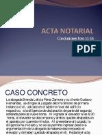 Acta Notarial Conclusiones Foro 11 14