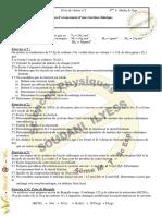 Série d'exercices N°1 - Chimie - Notion d'avancement d'une réaction chimique - Bac M   Sc exp (2009-2010)  Mr Soudani Elyes