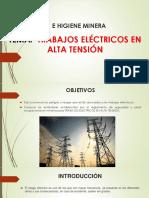 Trabajos de Alto Riesgo - Trabajos Electricos