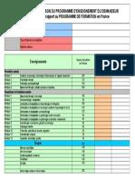 Tableau Comparaison Programmes d Enseignements