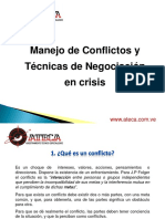 Conflictos y Negociaci+¦n en crisis ATECA ---