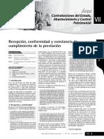 Recepcio-conformidad y Constancia de Prestacion