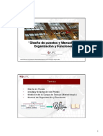 Diseño de Puestos y Manuales de Organización y Funciones