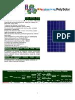 Generación Eléctrica Celdas Solares Policristalinas PolySolar POS VentDepot
