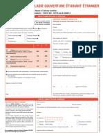 Formulaire Dossier Maladie Couverture Etudiant Etranger 20152016