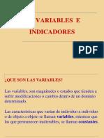 Vi. Variables e Indicadrs