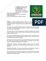 Communities in Dhobley in Somalia's Lower Juba region benefit from AMISOM troops' support