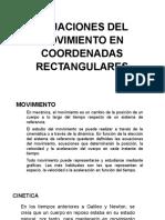 Ecuaciones Del Movimiento en Coordenadas Rectangulares (1)