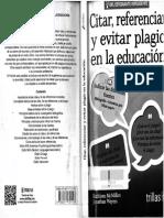 Citar-referenciar y eviatar plagio en la educación