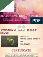 Biology Investigatory Project.  KV ONGC PANVEL