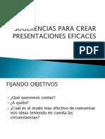 Sugerencias Para Crear Presentaciones Eficaces