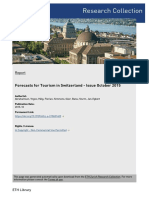 Forecasts for Tourism in Switzerland - Issue October 2015