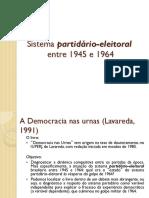 Wpid Sistema Partidario e Eleitoral 1945 1964