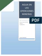 Agua en Las Operciones Mineras