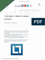 NetLimiter _ Limiter La Bande Passante