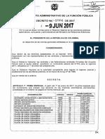 Decreto 1004 Del 09 de Junio de 2017