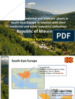 Important Medicinal and Aromatic Plants in South East Europe in Relation With Their Medicinal and Other Industrial Utilization Republic of Macedonia