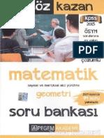 Pegem Matematik Soru Bankası 2015