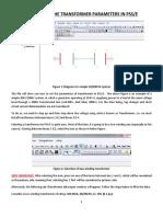 Transfomer Parameters