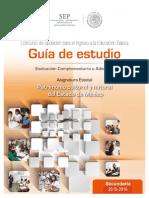 Guia de Estudio  para asignatura estatal patrimonio mexiquense