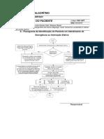Fluxograma Algoritmo de Identificacao de Paciente - Identificacao-paciente