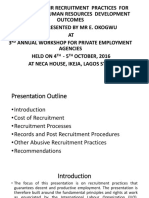 Enhancing Fair Recruitment Practices for Sustainable Human Resources