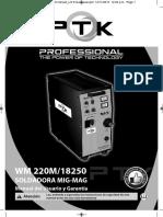 WM-220M-18250-SM-8250-PTK-PRO-manual