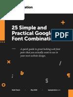 25 Google Font Combinations