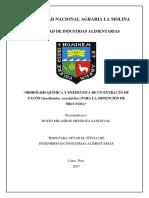 """""""Hidrólisis Química y Enzimática de Un Extracto De"""