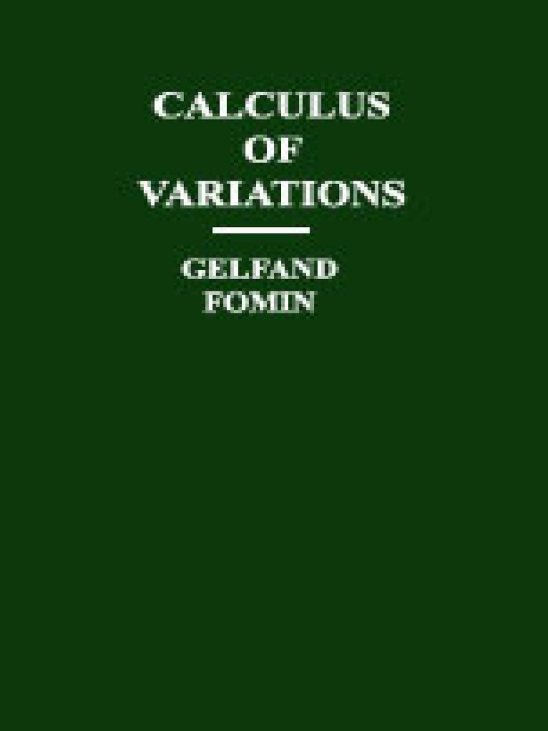 calculus of variations gelfand