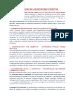 Definiciones de Conceptos - Planeacion Estrategica