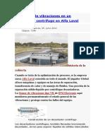 Monitoreo de Vibraciones en Un Decantador Centrífugo en Alfa Laval