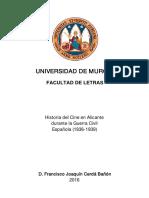 Historia del Cine en Alicante durante la Guerra Civil Española (1936-1939)