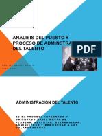 Analisis Del Puesto y Proceso de Adminstracion Del