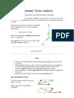 Elementary Vector Analysis