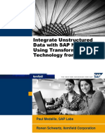 Integrate Unstructured Data With SAP NetWeaver